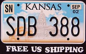 FREE-US-SHIP-034-KANSAS-034-STATE-CAPITOL-WHEAT-034-KS-Graphic-License-Plate