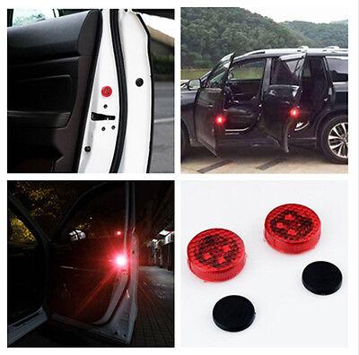 2x Universal Car LED Door Opened Warning Light Wireless anti-collid Flash Light