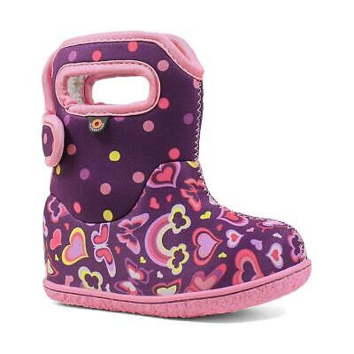 """BABY BOGS Girls """"Rainbow"""" In Purple Machine washable /& thermal Insulated Boots"""