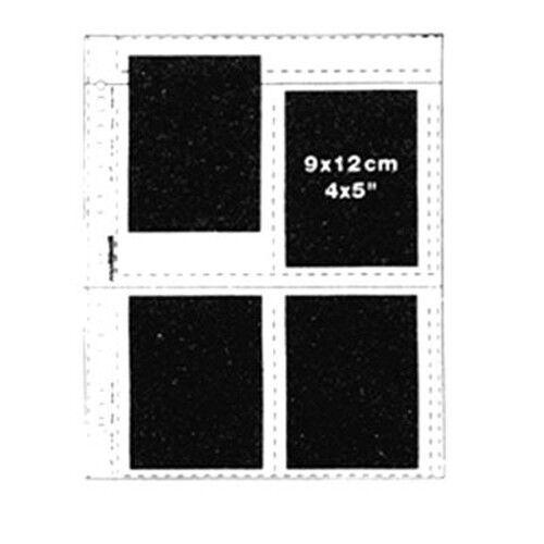 "50x NEGATIVE CLEAR SHEETS 4x5"" Slide Mounts 9x12cm Photo Films Sleeve Storage kk"
