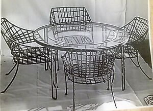 Image Is Loading Vintage Brown Jordan Patio Dining Set Steel Mid