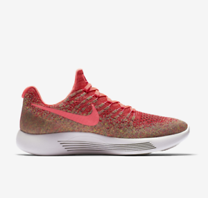 Nike WOMEN'S Lunarepic Low Flyknit Hyper Punch Hot Punch SIZE 12 BRAND NEW