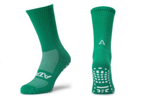 Atak Sports Mens Shox Non Slip Mid Leg Grip Socks Green Sports Training