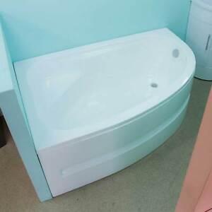 Image Is Loading Bath Tub Corner Left Side Offset Acrylic Panel