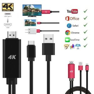 Details about USB C Type-C to HDMI 4K Cable HDTV TV Digital AV Adapter for  Samsung Note 9