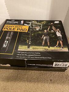 Spalding-Basketball-Pole-Pads-For-3-4-034-Round-amp-Square-Poles-8040-Black-NIB