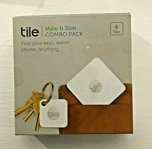Tile Mate /& Slim Combo Trackers 4-Pack Bluetooth Wireless Item Tracker