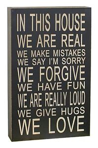 13-039-039-x-8-039-039-034-In-This-House-We-Are-Real-034-Wooden-Chunky-Wisdom-Sign-Wall-Art-Decor