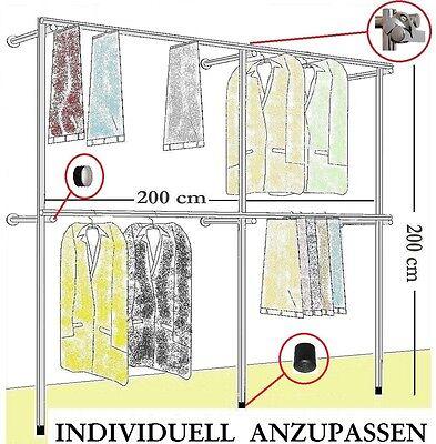 begehbarer Kleiderschrank  Wandgarderobe  Kleiderstaender Kleiderregal ART.W09