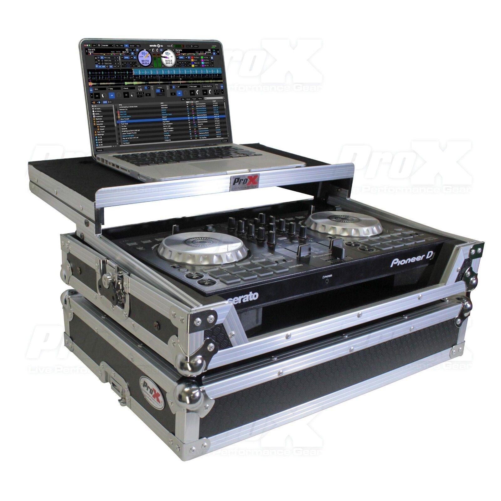 ProX X-DDJSB3LT Pioneer DJ DDJ-SB3, DDJ-400, DDJ-RB Flight Case W Sliding Shelf