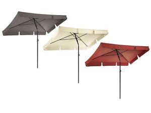 sonnenschirm garten terrasse balkon schirm knickvorrichtung uv schutz rechteckig ebay. Black Bedroom Furniture Sets. Home Design Ideas