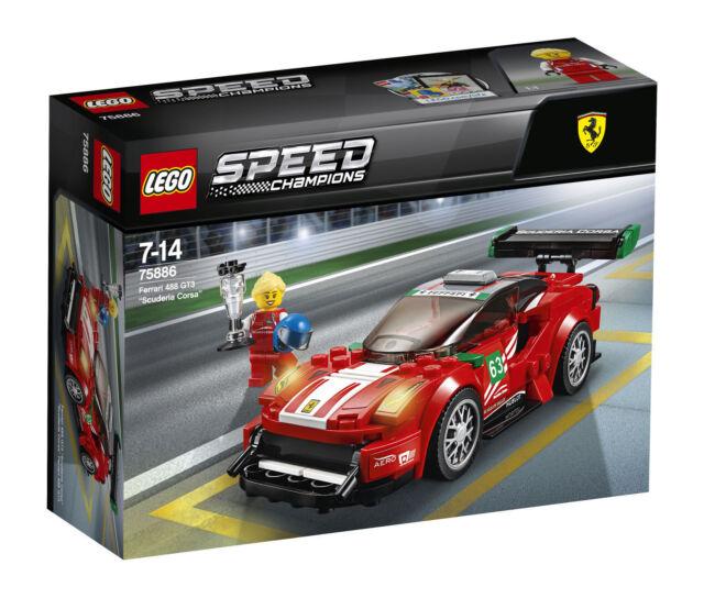 LEGO Speed Champions Ferrari 488 GT3 Scuderia Corsa # 75886 Brand NEW Free Post