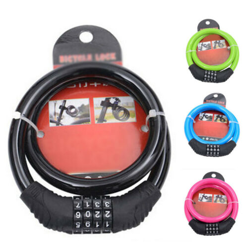 Combination Number Code Bike Bicycle Cycle Lock 12mm By 600mm Steel Cable Chain