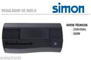 Regulador de suelo simon 500w para lampara dimmer intensidad potencia luz ebay - Regulador de intensidad ...