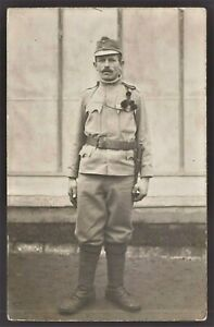 WW1-AUSTRO-HUNGARIAN-SOLDIER-ANTIQUE-RPPC-PHOTO-POSTCARD