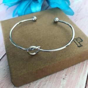 Silver Knot Bracelet Bridesmaid Gift