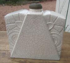 ANCIENNE LAMPE CRAQUELE ART DECO SAINT CLEMENT