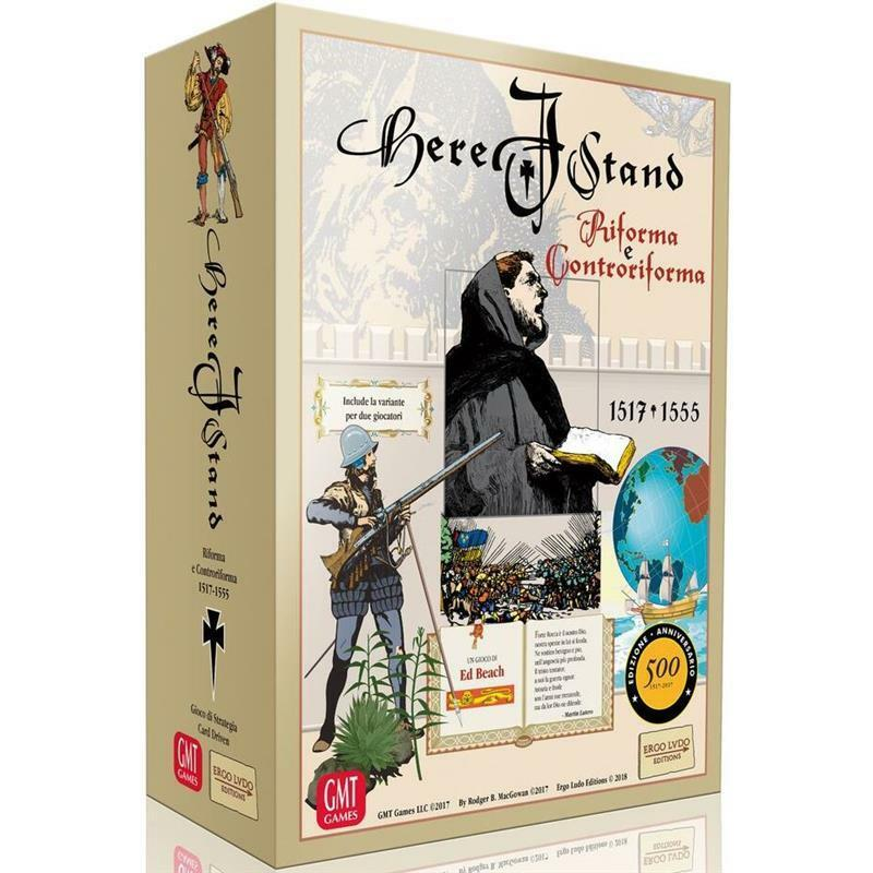 Here I Stand BOARD GAME Gioco da Tavolo NEW SEALED ITA