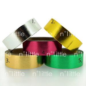 METALLIC COATING Paper Washi Tape Masking Adhesive Roll Decorative Card Craft
