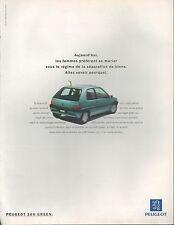 ▬► PUBLICITE ADVERTISING AD Peugeot 106 green 1994