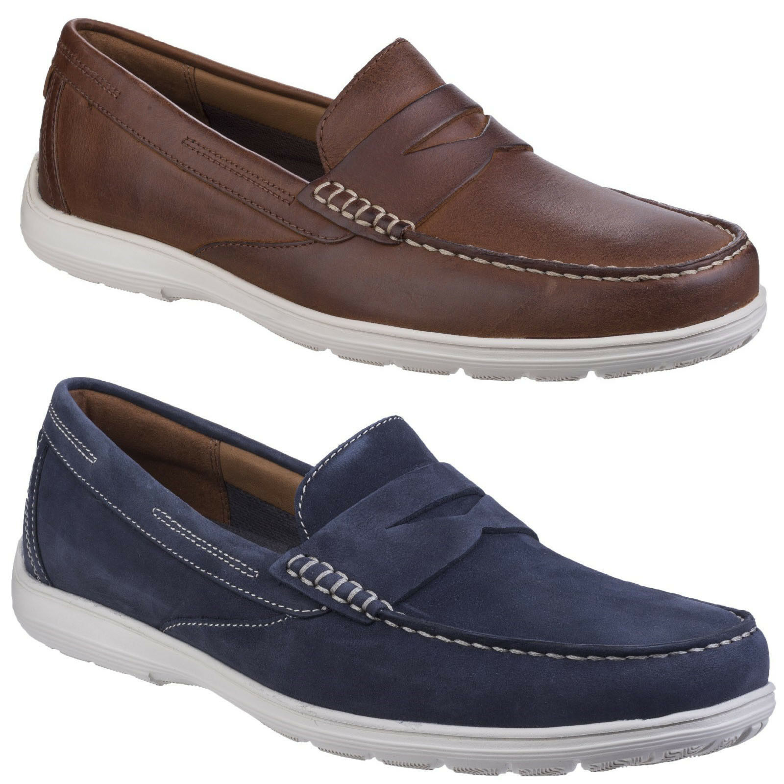 Rockport Total Motion Penny Loafer Leather Slip On Casual schuhe Mens