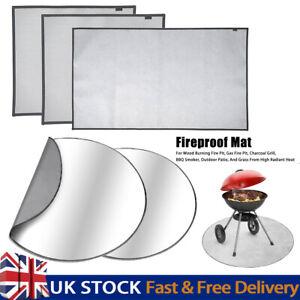 Tapis de foyer et grill 24/36 pouces protecteur de pont rond tapis ignifuge hau