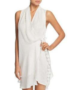 bcc7c8b0c8 NWT Red Carter White Amazon Jungle Wrap Dress Swim Cover Up Small ...