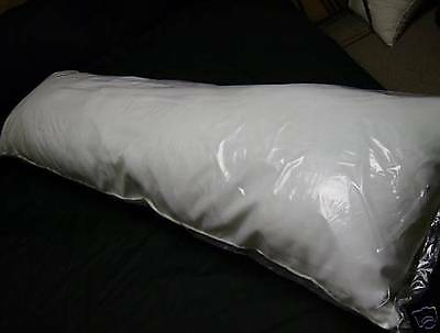 DAKIMAKURA BODY PILLOW 20 X 60 WHITE  POLYESTER FILL made in usa