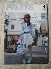 FRUITS MAGAZINE NO.141 4 2009 FASHION JROCK JAPAN EMO VISUAL KEI COSPLAY LOLITA
