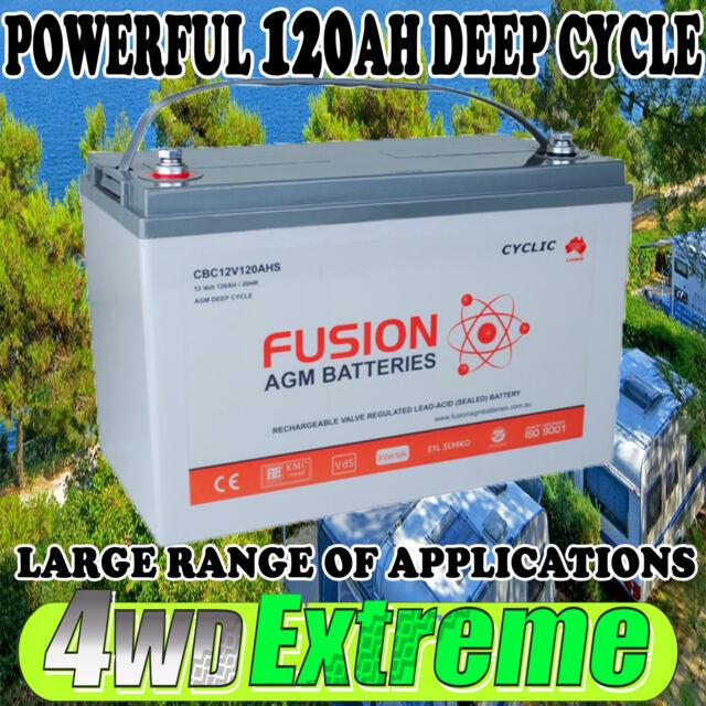 12V 120AH DEEP CYCLE AGM BATTERY ,SOLAR, DUAL SYSTEM,CARAVAN 4WD CBC12V120AHS