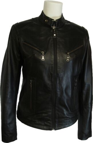 #Z1 UNICORN Womens 100/% Real Leather Jacket Black All sizes