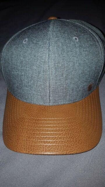 buy popular 74401 8d96f NO BAD IDEAS MOBLEY GREY CAMEL FLEXFIT ADULT MENS L XL HAT NEW NBI 20935009