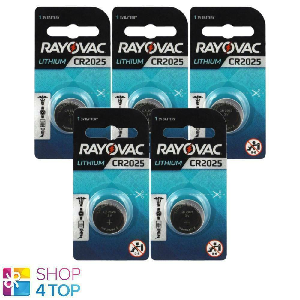 5 Rayovac CR2025 Lithium Batteries 3V Cell Coin Button Exp 2026 Indonesia New