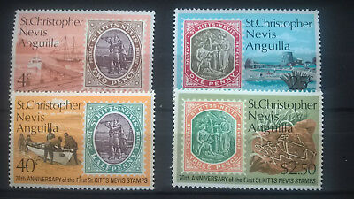 Post & Kommunikation Gutherzig St.kitts 1973 70 Jahre Briefmarken Von St.christopher Stamp On Stamp Mnh Modische Und Attraktive Pakete Motive
