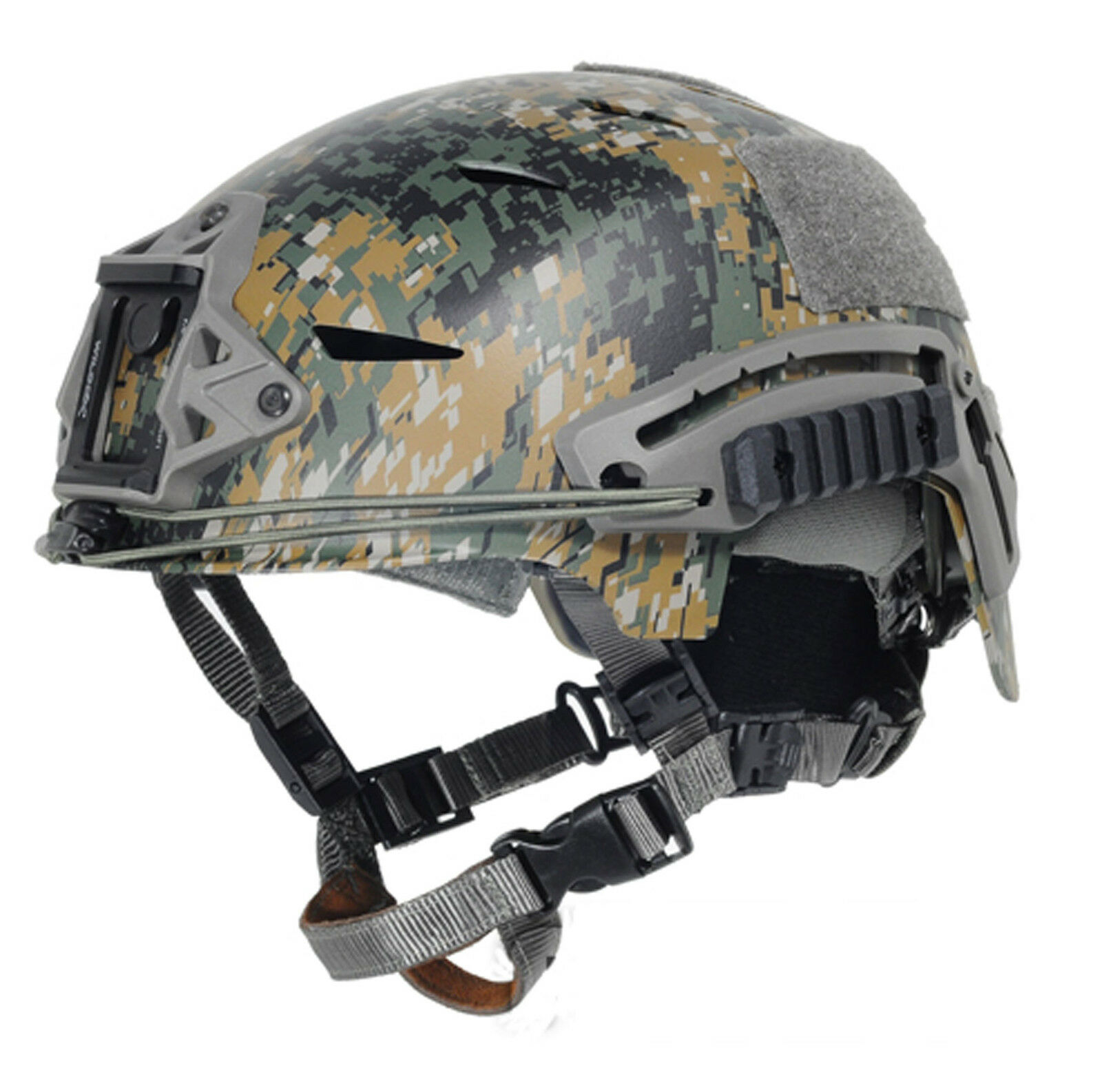Military Tactical Airsoft Pain FMA EXF BUMP Helmet SetDigital Woodland T789 L XL