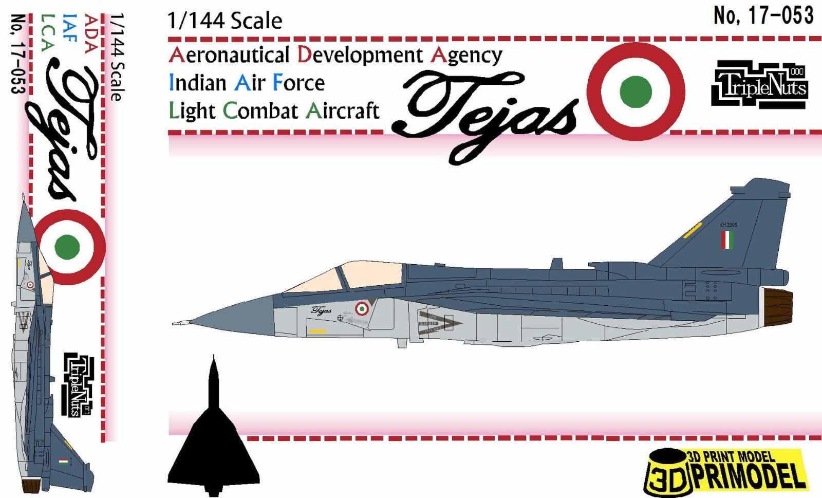 1 144 Modern Fighter   ADA Light Combat Aircraft [India]   Triple Nuts