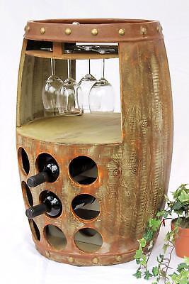 Weinregal Holz Weinfass 1681 Bar Flaschenständer 69 cm Fass Holzfass Weinschrank