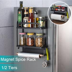 Kitchen-Magnetic-Organiser-Rack-Fridge-Side-Shelf-Hook-Storage-Holder-Save-Place