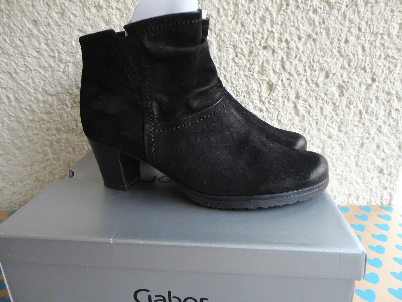 Gabor Stiefeletten Halbstiefel Gr. 6 1 2 oder 40 in Leder Farbe Schwarz Weite G