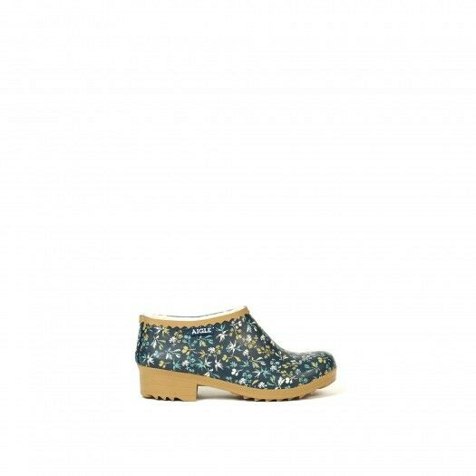 Aigle Victorine Sabot Gardening shoes  - Faux fur lined - Hashley Print (EU35 - 4