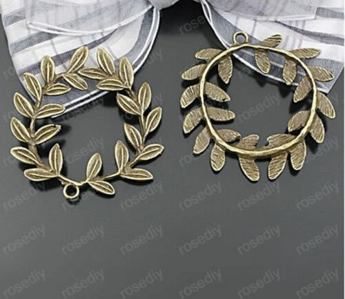 branches and leaves Bead Charms Accessories wholesale PJ1864 5pc Retro Bronze