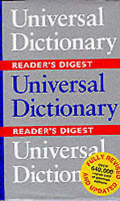Universal Dictionary, Reader's Digest, Acceptable Book