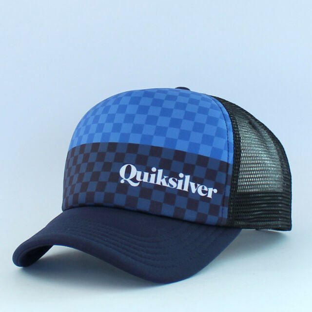Quiksilver Boardies Trucker cap Merican Stripe snapback Adjustable Mesh boys hat