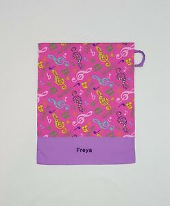 FREE-NAME-MUSICAL-PINK-NOTE-MUSIC-PERSONALISED-EMBROIDERY-LIBRARY-BAG-FD