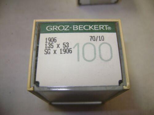 100 SIZE 70//10 GROZ-BECKERT 1906 135X53 SGX1906 SEWING MACHINE NEEDLES A139