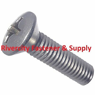 10-24 x 1//2 Phillips Oval Head Machine Screws Stainless Steel 18-8 Qty 1000