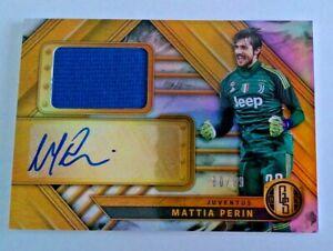 2019-20 Panini Gold Standard Soccer Jersey Autograph Mattia Perin #80/99