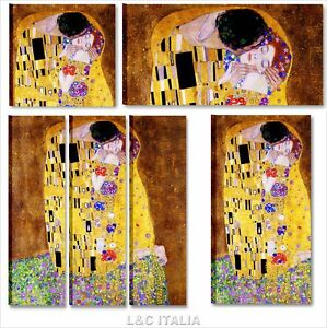 Gustav klimt il bacio quadri moderni quadro moderno arte for Quadri arredamento casa