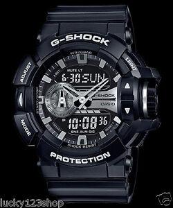 GA-400GB-1A-Black-G-Shock-200m-Digital-Resin-Band-200m-Casio-Sport-Men-039-s