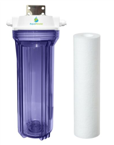 """AquaHouse AH-UVPRE Small UV lamp Sediment Pre filter System for 1//4/"""" tubing 12W"""